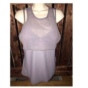 Lululemon purple work out tank built in bra sz 10